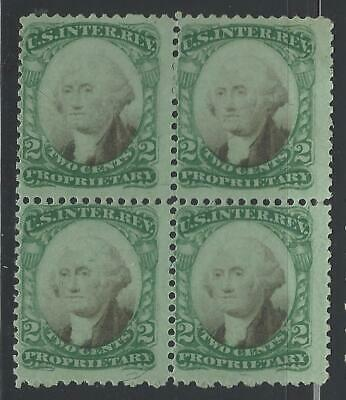 VEGAS - USA Revenue Stamp Used Block Of 4! - Sc# RB2b -Clean, Fresh! - (DA66)
