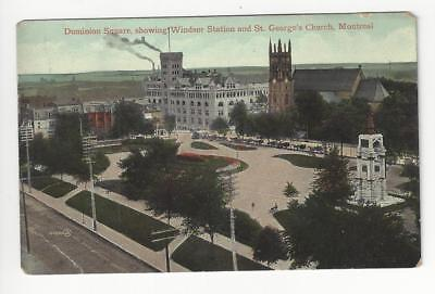 1910 Canada Postcard - Montreal - Dominion Square Windsor Station (AG19)