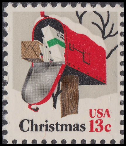1977 Christmas Mailbox Single 13c Postage Stamp - Sc 1730 - MNH - CW490a