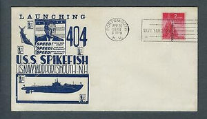 VEGAS - 1944 Submarine Spikefish Launch Cover- Portsmouth, NH - FD221