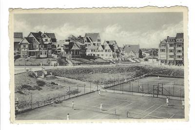 1953 Belgium Photo Postcard - Duinbergen - Tennis Courts (XX14)