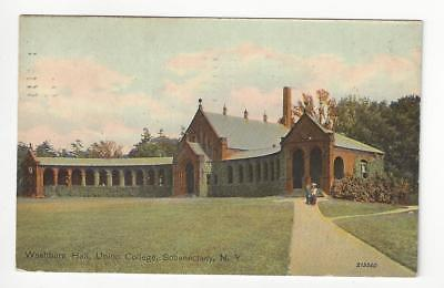 Posted 1913 USA Postcard- Washburn Hall, Union College, Schenectady, NY (AT62)