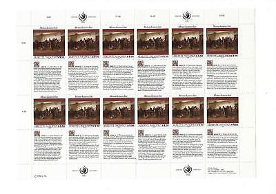 1990 United Nations Vienna -Sc# 108 - MNH Full Sheet! - Rights Article 11 (CO77)
