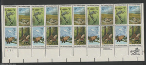 1981 Wildlife Habitat Preservation Plate Block Of 20 18c Postage Stamps - Sc 1921-1924 - CW221a