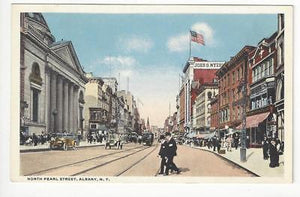 Early 1900s USA Postcard - North Pearl St, Albany, NY (AT41)
