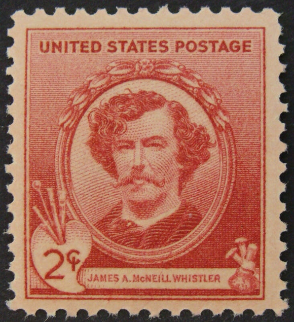1940 James McNeill Whistler Single 2c Postage Stamp - MNH, OG - Sc# 885 - CX449b