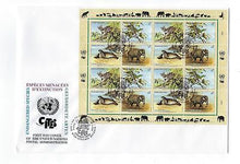 Load image into Gallery viewer, 1994 UN United Nations Vienna Sc # 162-165 Full Sheet First Day Cover (CN99)