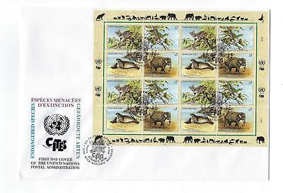 1994 UN United Nations Vienna Sc # 162-165 Full Sheet First Day Cover (CN99)