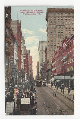 1911 USA Picture Postcard - Chestnut Street, Philadelphia, PA - (AM43)