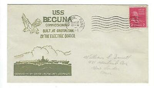 VEGAS - 1944 USA Submarine USS Becuna Commission Spader Cover - Groton - EQ118