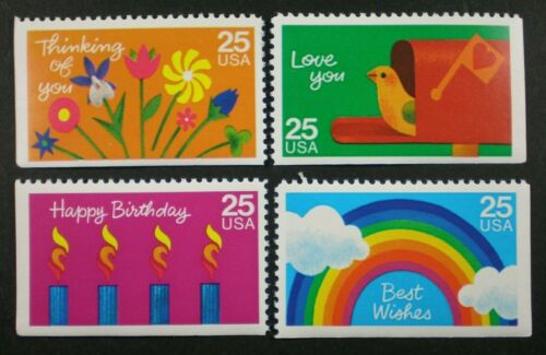 1988 Special Occasions Set Of 4 25c Postage Stamps - Sc# 2395-2398 - MNH, OG - CX890