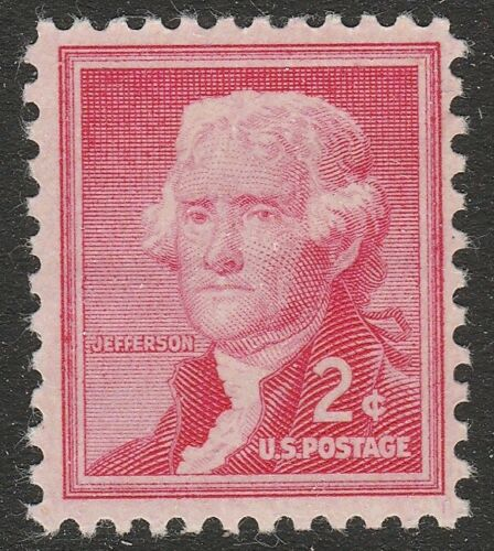 1954-68 Thomas Jefferson Single 2c Postage Stamp - Sc# 1033 - MNH, OG - CX567