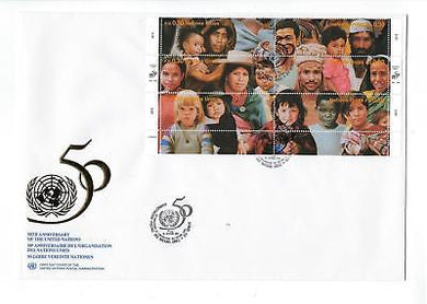 1995 United Nations Geneva- # 275 Full Sheet! Quality First Day Cover (CO99)