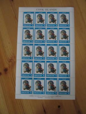 VEGAS - 1982 Cook Islands RARE Full Sheet - Sc# 683 Rockwell - MNH, OG - (CS72)