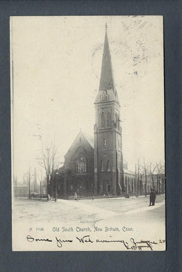 VEGAS - Posted 1905 New Britain, CT - Old South Church - FD395