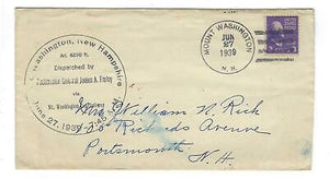 VEGAS - 1939 Mt Washington Cog Railway Dispatched By James Farlay - READ - FD264