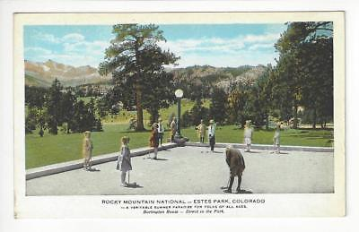 Vintage USA Postcard- Rocky Nountain Natl Park, Estes Park, CO Train Route(AH78)