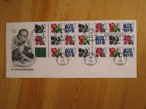 VEGAS -1999 USA First Day - Berries On Rare Booklet Pane - Artcraft - Sc# 3297