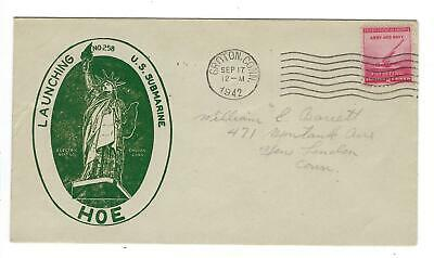 VEGAS - 1942 Submarine USS Hoe Keel Launch Cover - Groton - EQ148