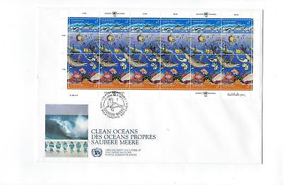 1993 UN United Nations Vienna Sc # 127-128 Full Sheet First Day Cover (CN108)