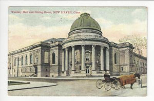 Posted 1909 USA Postcard - Woolsey Hall & Dining Room, New Haven, CT (AT78)