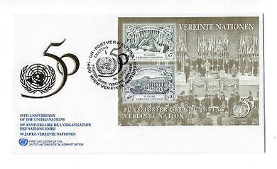 United Nations Vienna - Sc# 188 FDC & MNH Souvenir Sheet - See 2 Scans- (CO68)