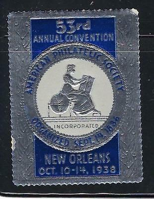 VEGAS - 1938 APS Convention New Orleans Promotional Poster Stamp -Read (CR28)
