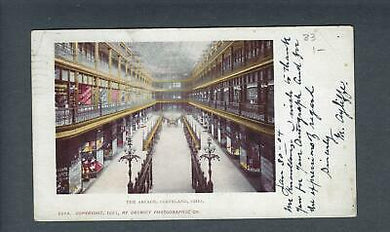 VEGAS - Posted 1904 Postcard Cleveland - The Arcade - FD358a