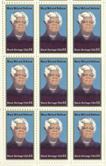 1985 Mary McLeod Bethune Block of 9 Postage Stamps - MNH, OG - Sc# 2137