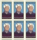 1985 Mary McLeod Bethune Block of 6 Postage Stamps - MNH, OG - Sc# 2137