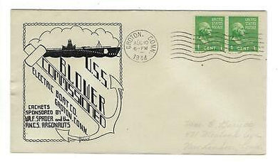 VEGAS - 1944 USA Submarine Blower Commission Herald Cover, Groton, CT - FD275