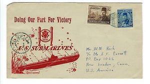 VEGAS - 1940s USA Navy Submarines Cover Posted From Egypt - EQ120