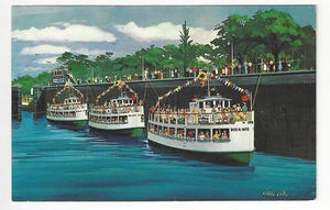 Vintage USA Picture Postcard - New Cruise Boats - Sault Ste. Marie, MI (AC63)