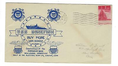 VEGAS - 1943 Submarine Bonefish Commission Spader Cover - Groton, CT - FD246