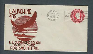 VEGAS - 1944 Submarine Sea Owl Launch Cover- Portsmouth, NH - FD222