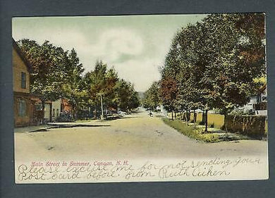 VEGAS - Posted 1906 Canaan, NH Main St In Summer Postcard - FD392