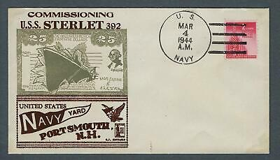 VEGAS -1944 Submarine Sterlet -Striking Contraros Cover - Portsmouth, NH - FB285