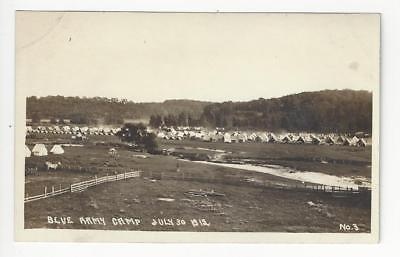 1919 USA Photo Postcard - Blue Army Camp, July 30, 1919 (AJ44)
