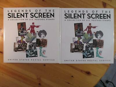 VEGAS - 1993 USPS Legends Of The Silent Screen Book & Mounted Stamp Sheet EZ117