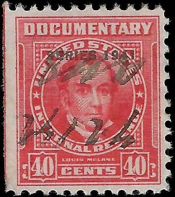 VEGAS - 1954 Sc# R663 - $.40 - Documentary Revenue - Clean! - Centering! - EX49