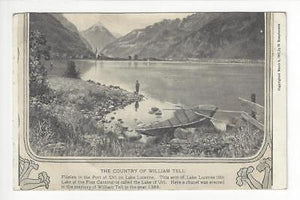 Vintage Switzerland Photo Postcard - William Tell Country, Lake Lucerne (AN41)