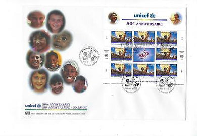 1996 United Nations Geneva -Sc# 294 Full Sheet First Day Cover (CO83)