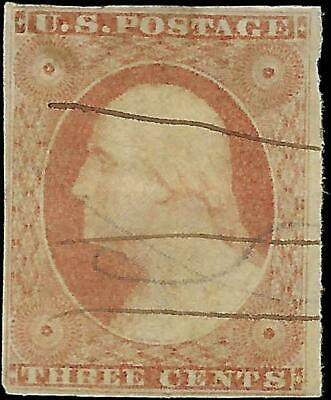 VEGAS - 1851 Sc# 10a - Type II - Light Cancel - Margins - No Hidden Flaws - EL19
