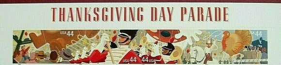 2009 Thanksgiving Day Parade Strip Of 4 44c Postage Stamps & Header - Sc# 4417-4420 - MNH, OG - DC137a