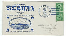 Load image into Gallery viewer, VEGAS - 1943 USA Submarine USS Becuna Keel Laid, Groton, CT - DZ138