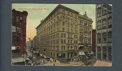 VEGAS - Early 1900s Photo Postcard Hotel Worthy, Springfield, MA - FD352
