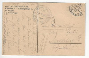 1921 Early Czechoslovakia Photo Postcard - (YY162)