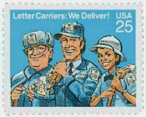 1989 Letter Carriers Single 25c Postage Stamp - Sc# 2420 - MNH - CW462b