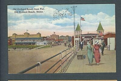 VEGAS - Posted 1917 Old Orchard Beach, ME, Street Scene Postcard - FD384