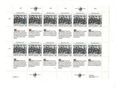 1989 United Nations Vienna -Sc# 95 - MNH Full Sheet! - Rights Article 5 (CO79)